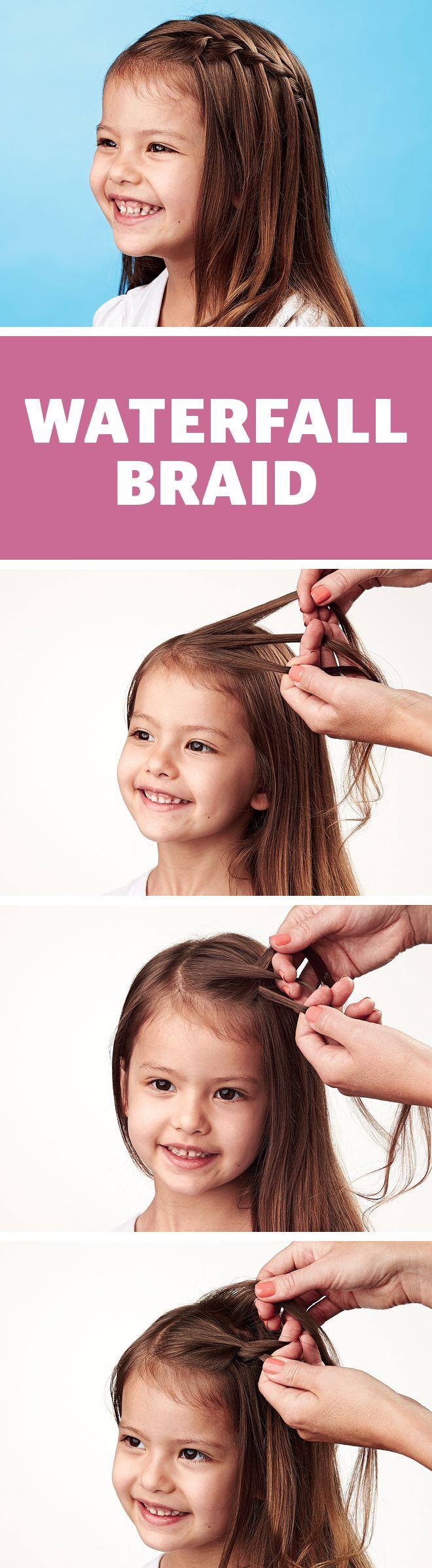 Kidsu hair how to do a waterfall braid short hair shorts and