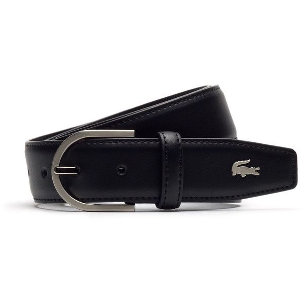 6f09d32163c5 Lacoste Men s Smooth Leather Belt ( 75) ❤ liked on Polyvore featuring men s  fashion