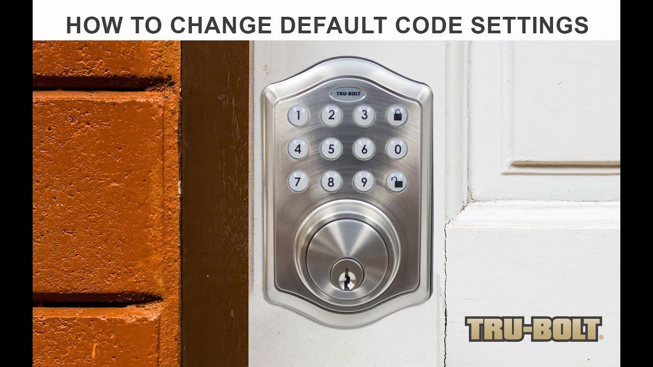 How to change the default codes of a trubolt electronic