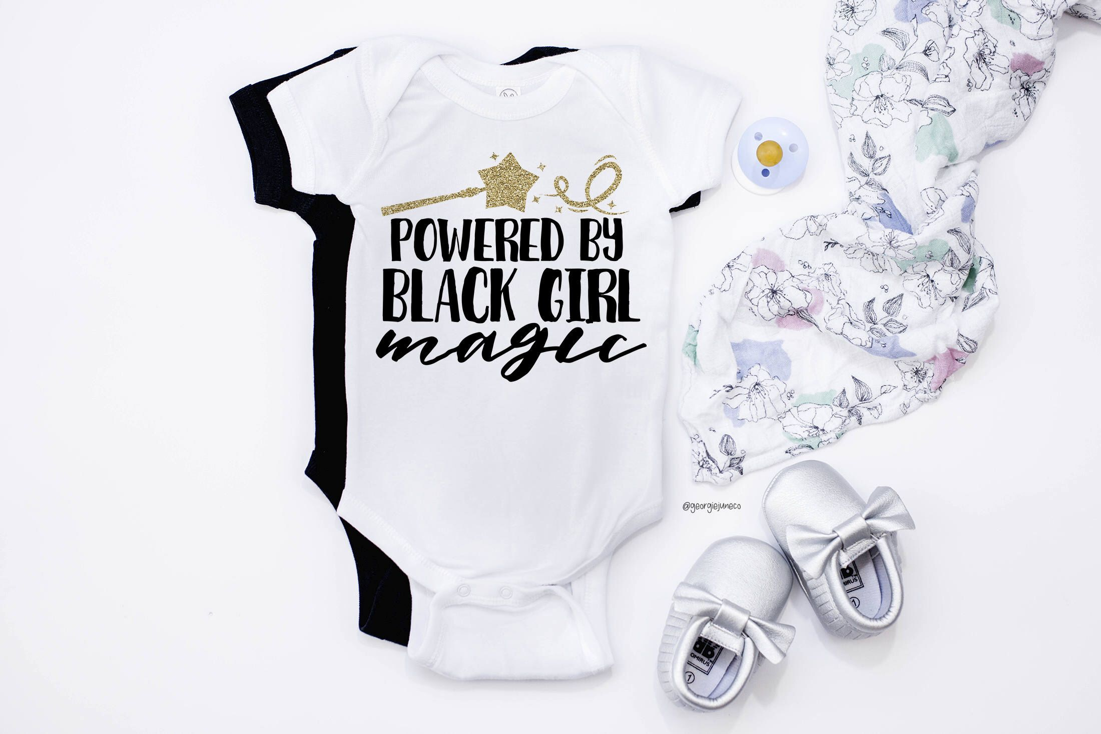 Baby Girls Bodysuits Believe in Magic Baby Clothes