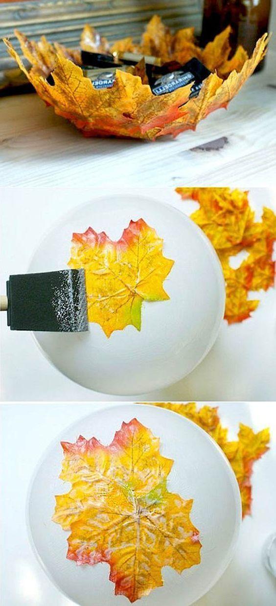 Herbstblatter Kreative Deko Und Bastel Ideen Crafts Fall