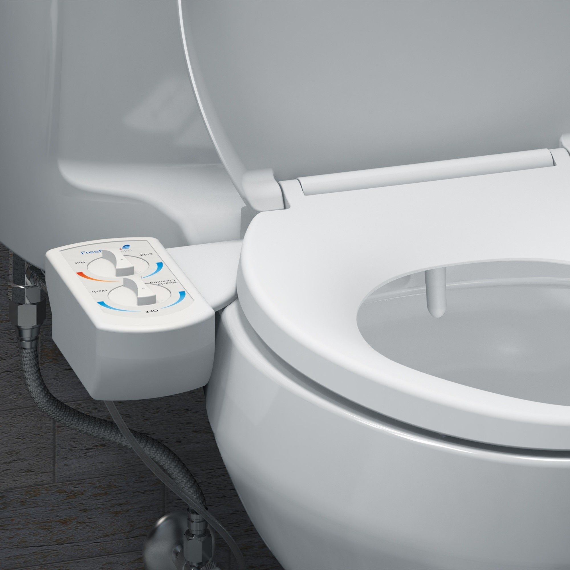 Freshspa Dual Temperature Bidet Toilet Attachment Toilet King