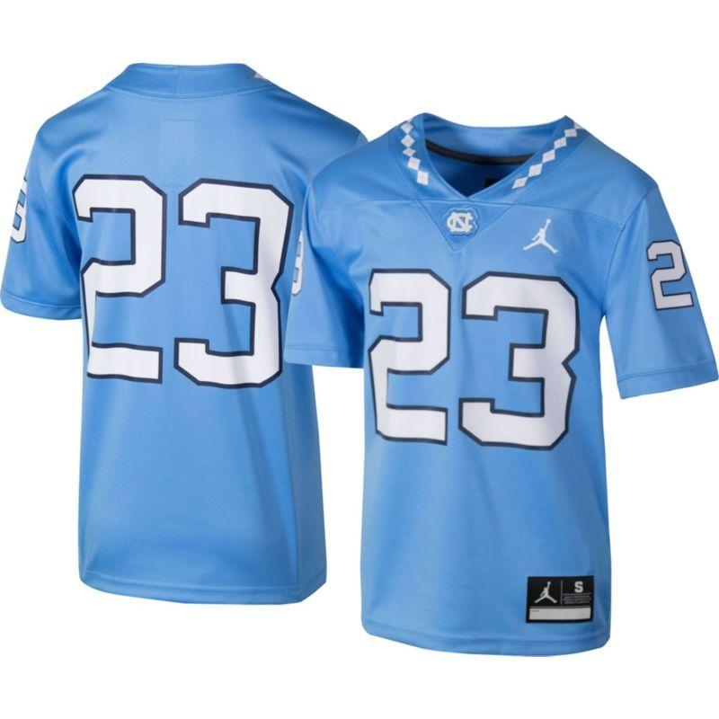 08ecc9e57f5 Jordan Youth North Carolina Tar Heels  23 Carolina Blue Game Football Jersey