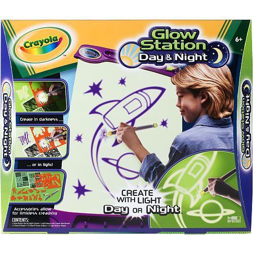 crayola glow station day night arts crafts pinterest create