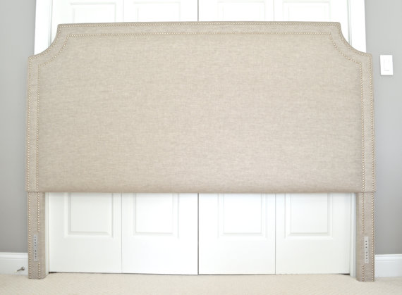 Upholstered Headboard, King, Queen, Full, Twin Size, Belgrave Shape ...
