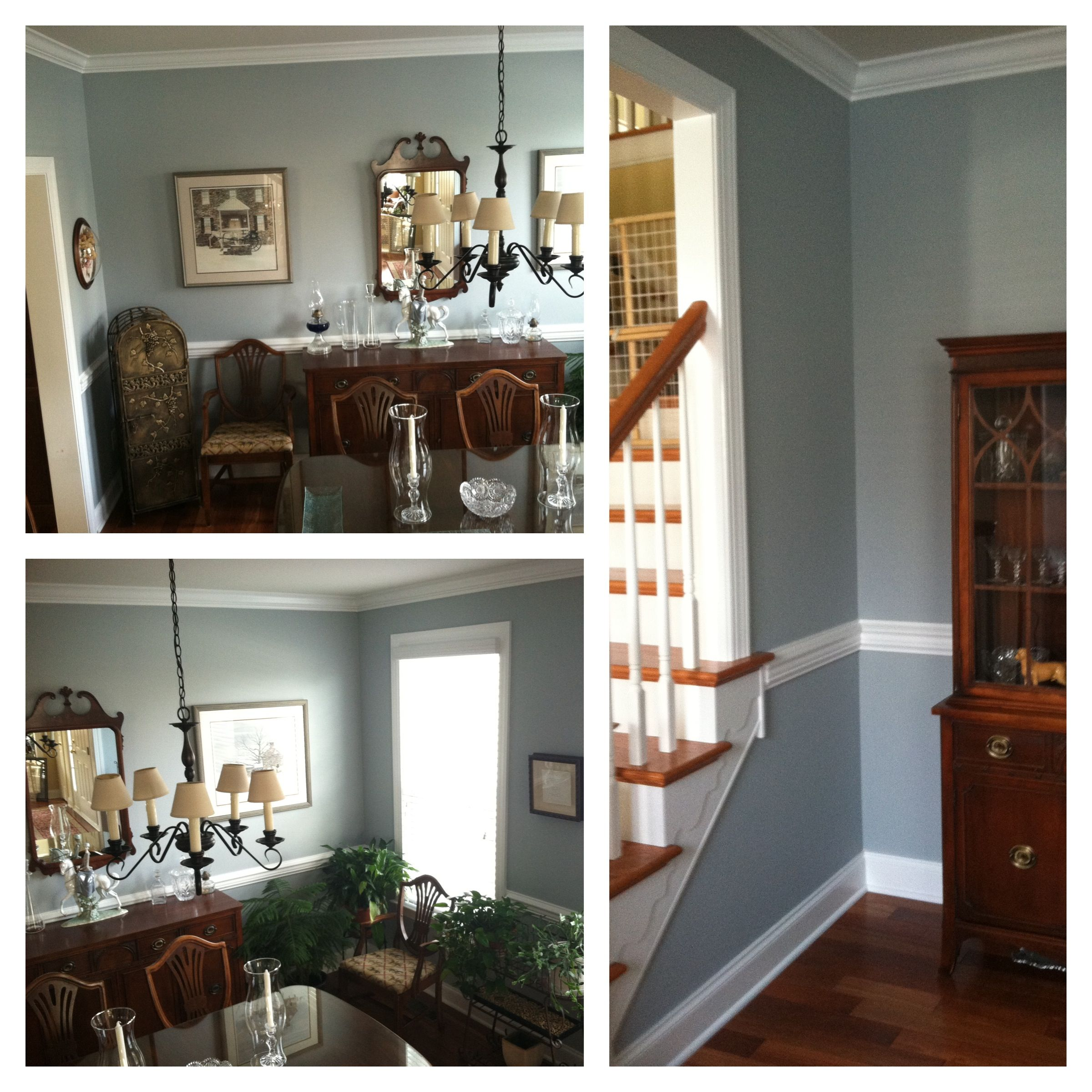 Blue Springs Benjamin Moore 1592 I Had It Matched At Sherwin Williams And Used Cashmere Flat