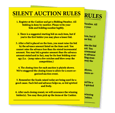 free printable silent auction templates google search