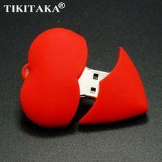 Red Heart Hearts USB Flash Pen drive Driver Genuine 4GB 8GB 16GB 32GB Flash Memory Stick Pendrive Pendriver U disk Wedding gift for just $3.21#usbpendrive #bulkflashdrives #usborne #flashdriver
