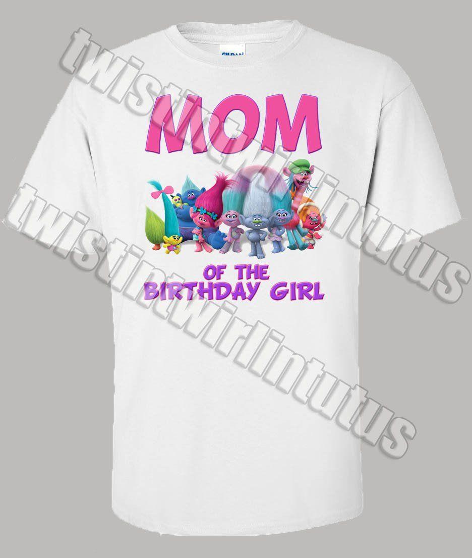 Trolls Birthday Shirt Family Set