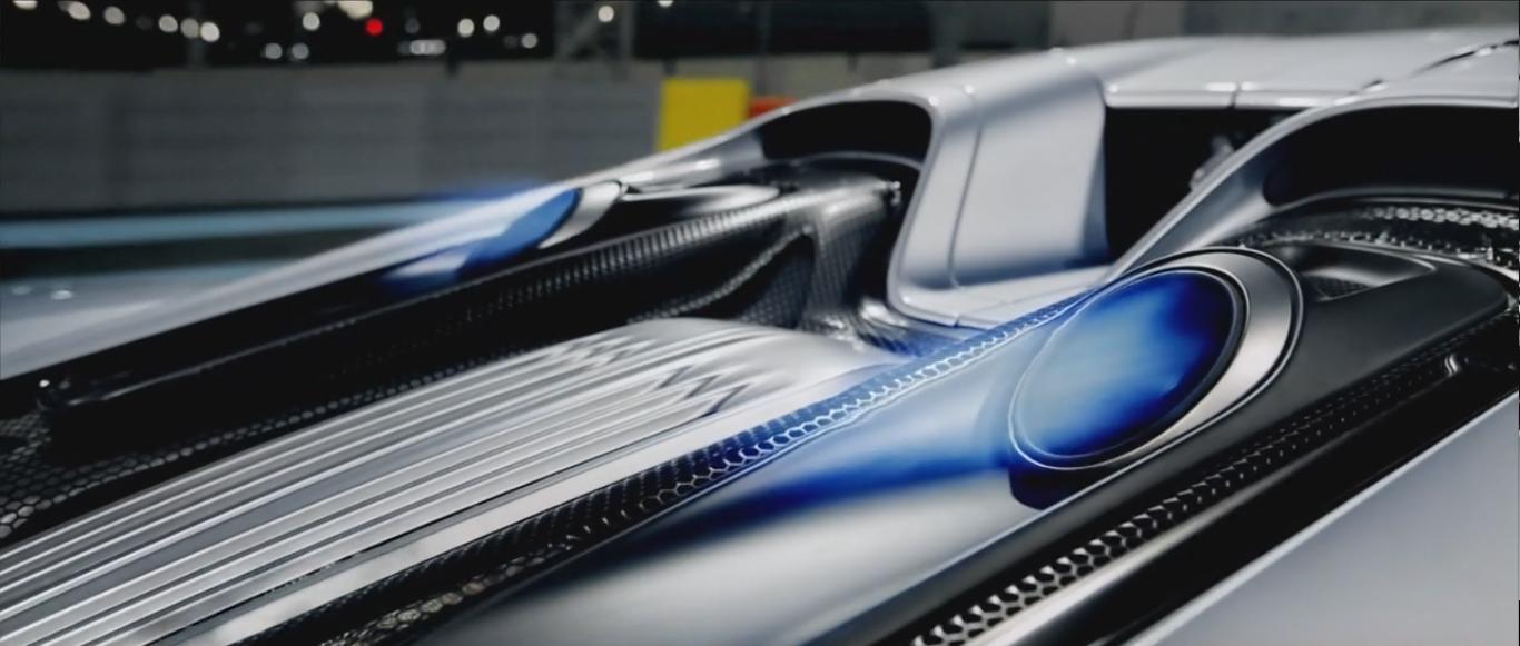 new porsche 918 spyder exhaust blue flame