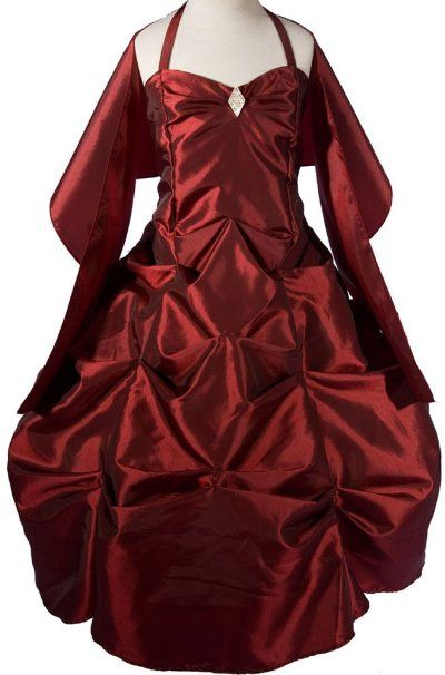 Amazon Amj Dresses Inc Girls Burgundy Flower Girl Formal Dress