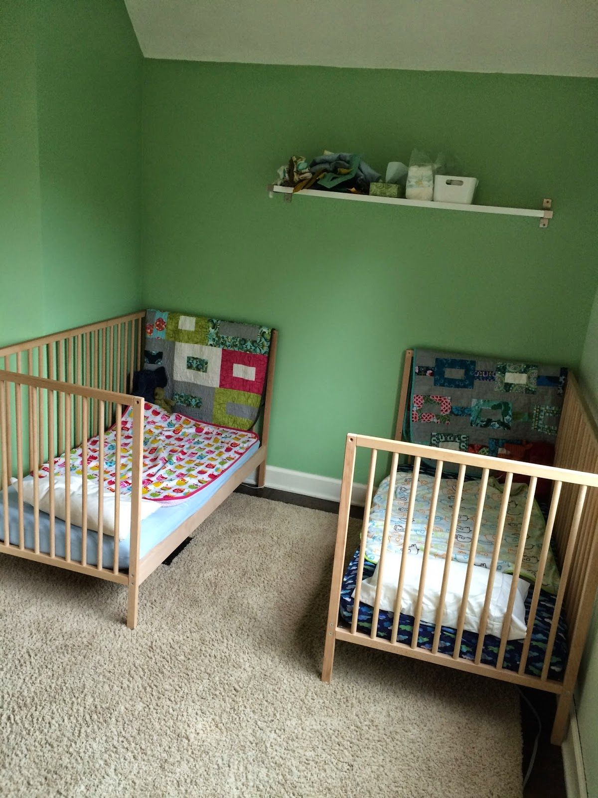 When We Found Out We Were Having Surprise Twins Almost Two Years Ago We Decided To Go With The Ikea Sniglar Cribs Be Ikea Crib Ikea Sniglar Crib Ikea Crib Hack
