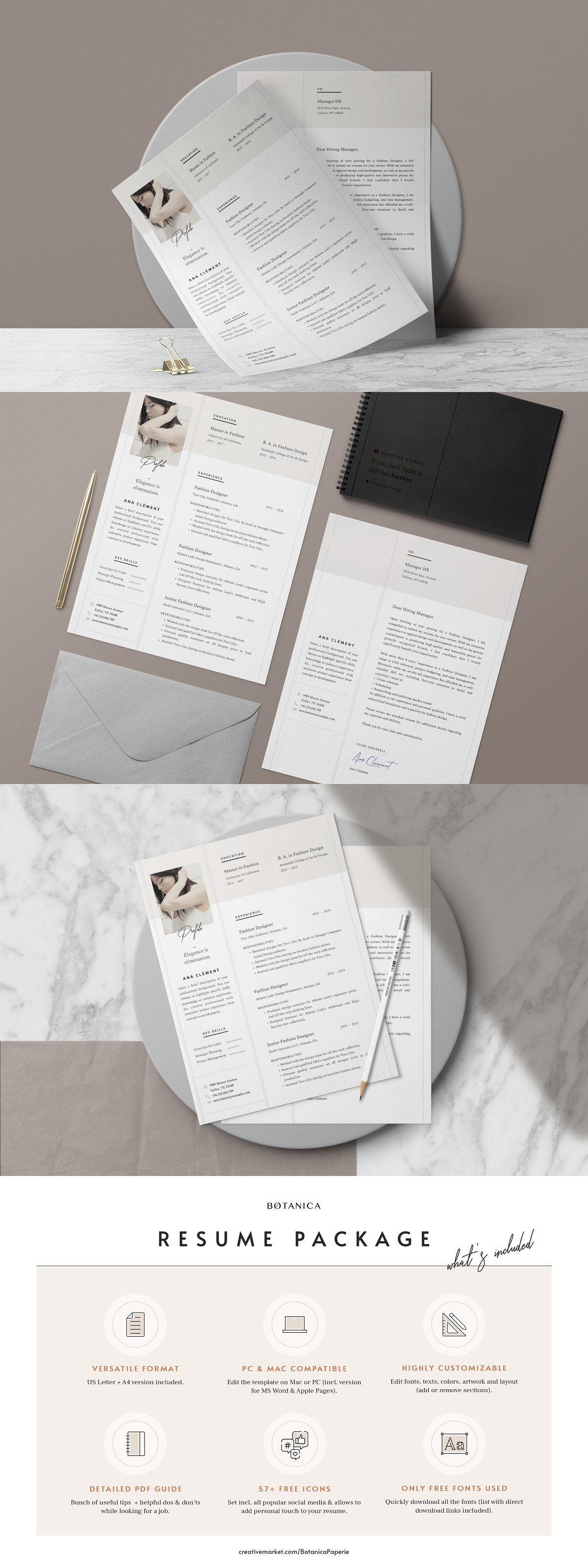 Elegant resume template ana in 2020 simple resume