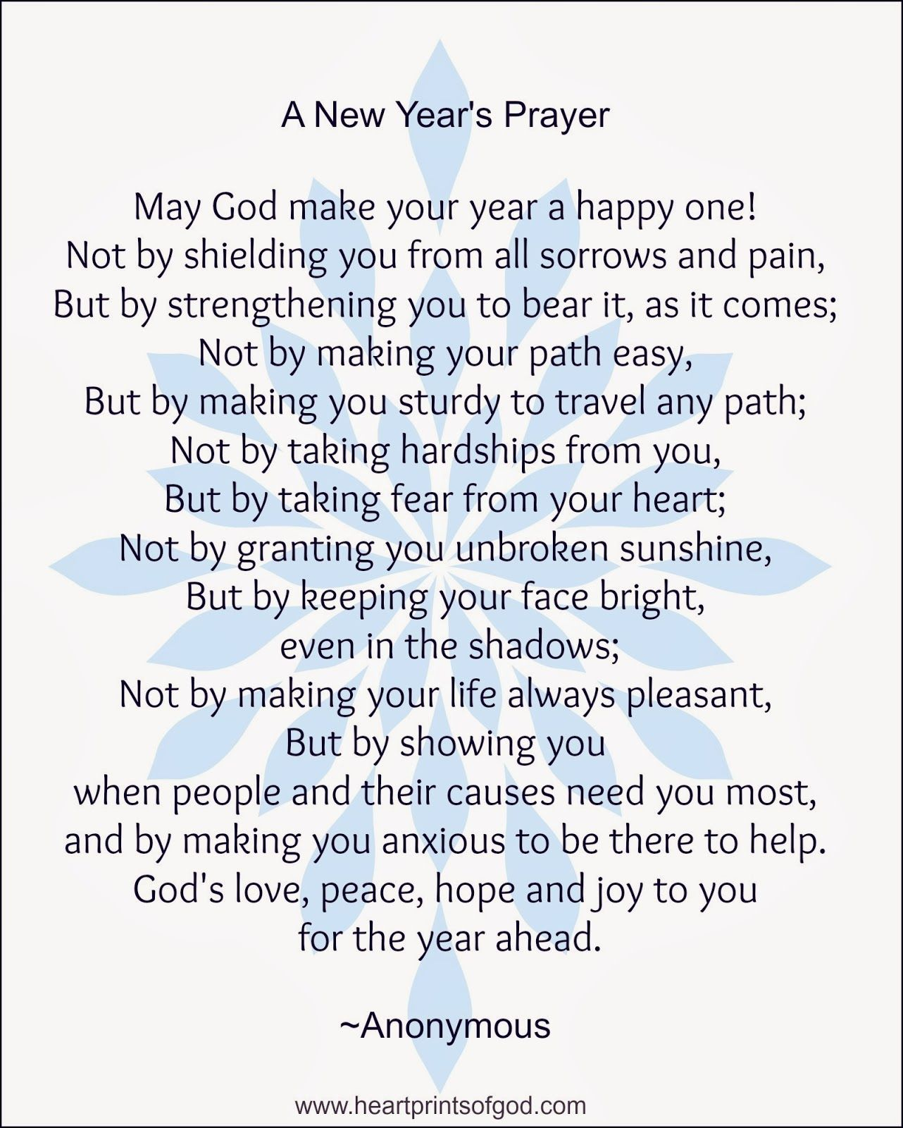 heartprints of god a new years prayer