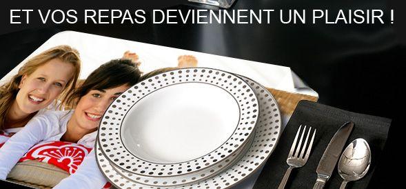 set de table personnalisé pour des repas uniques | set de table