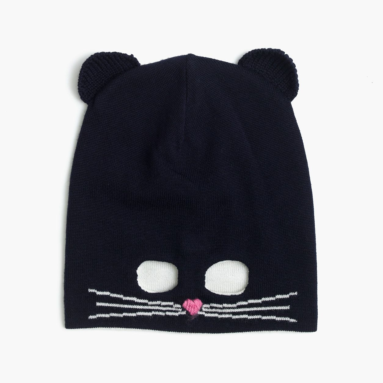 3fdab2cdee5 crewcuts Girls Kitty Mask Beanie Hat (Size L-XL Kid)