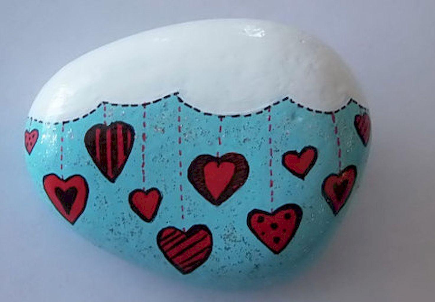 80 Romantic Valentine Painted Rocks Ideas DIY For Girl | Rock ...