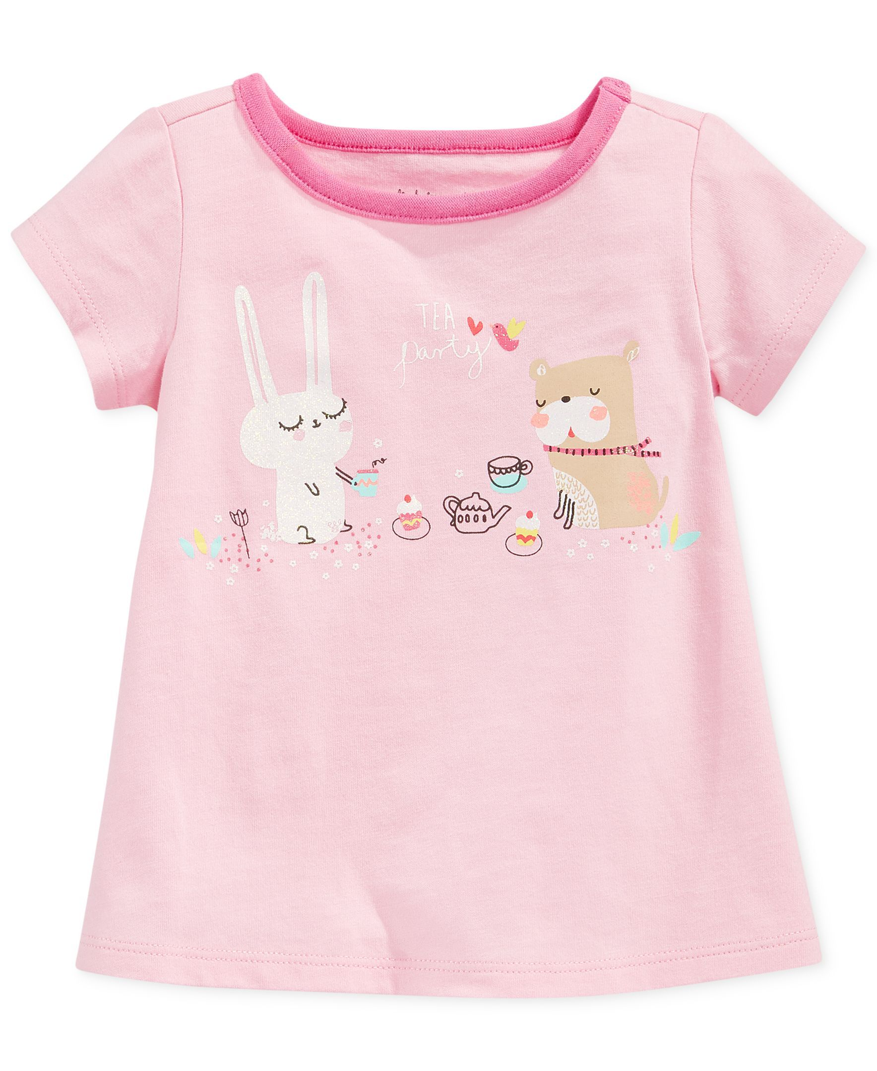 First Impressions Baby Girls Tea Party Tee Toddler Girl