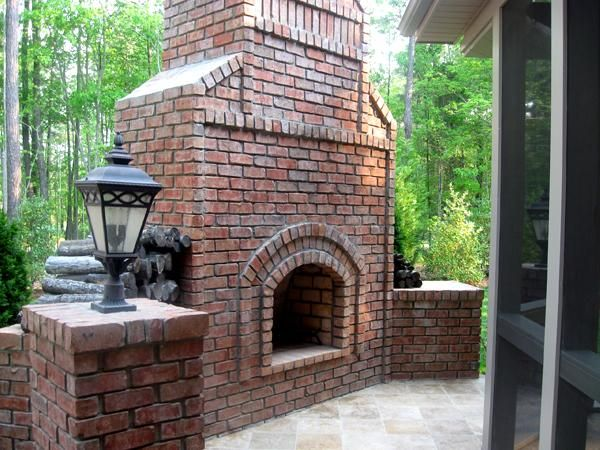 outdoor fireplaces for privacy Large outdoor fireplace with