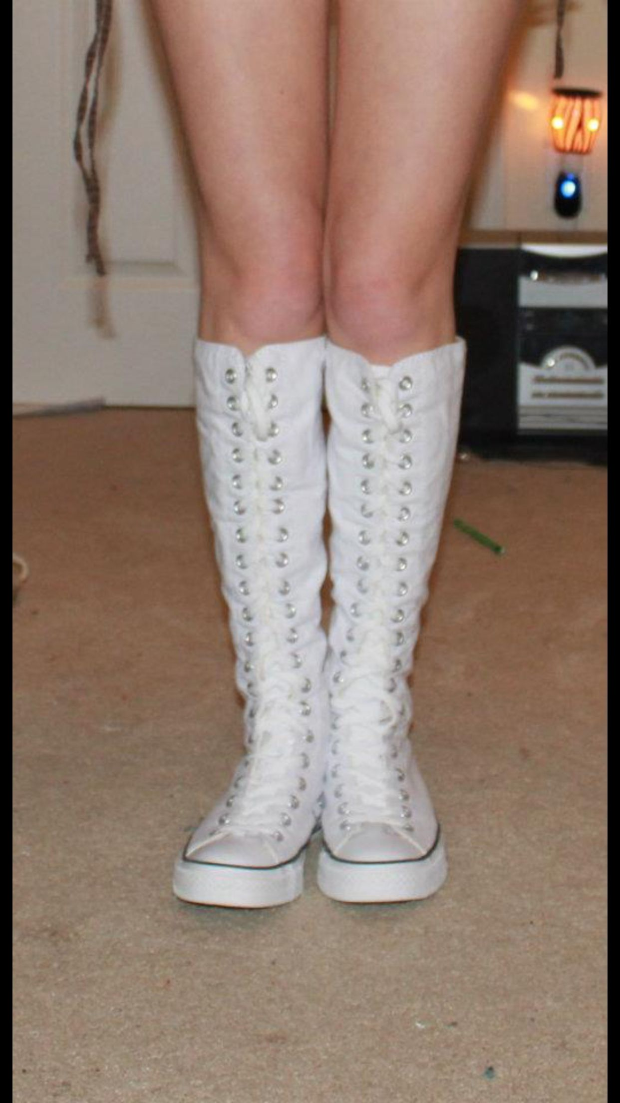 My 5th white knee high converse! These pair are for my thick