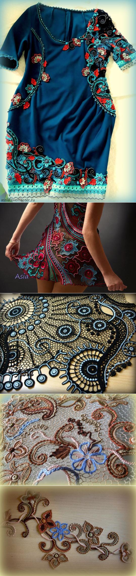 Восхитительное кружевное ирландское вязание... ♥ Deniz ♥