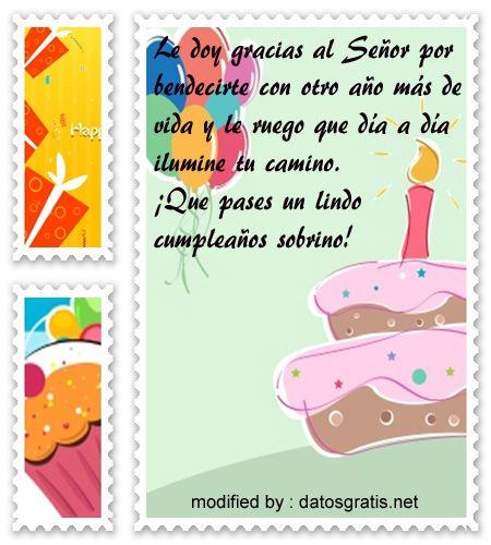 dedicar lindos textos de cumpleaños para un sobrino maravilloso, descargar lindas tarjetas con
