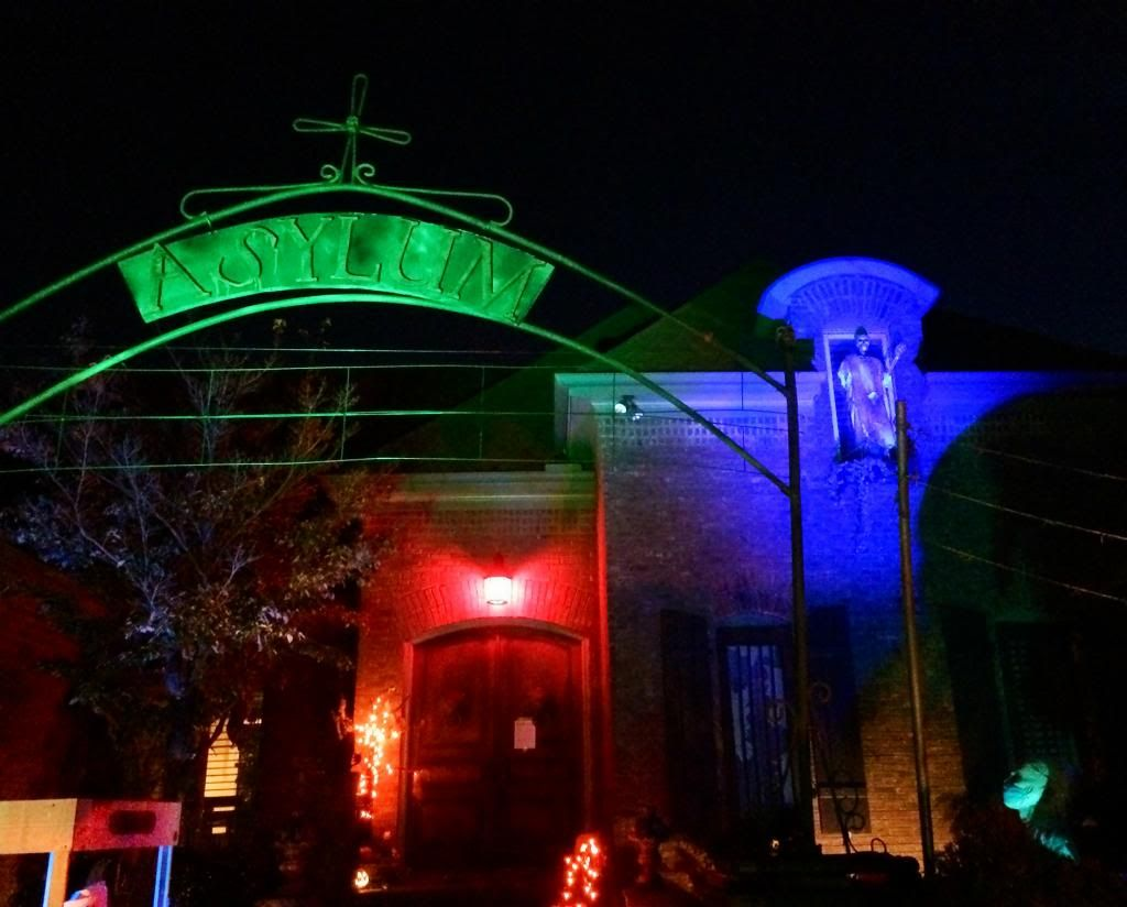 Front Night Shot photo 357AAjpg Outdoor Halloween Decor - front yard halloween decorations