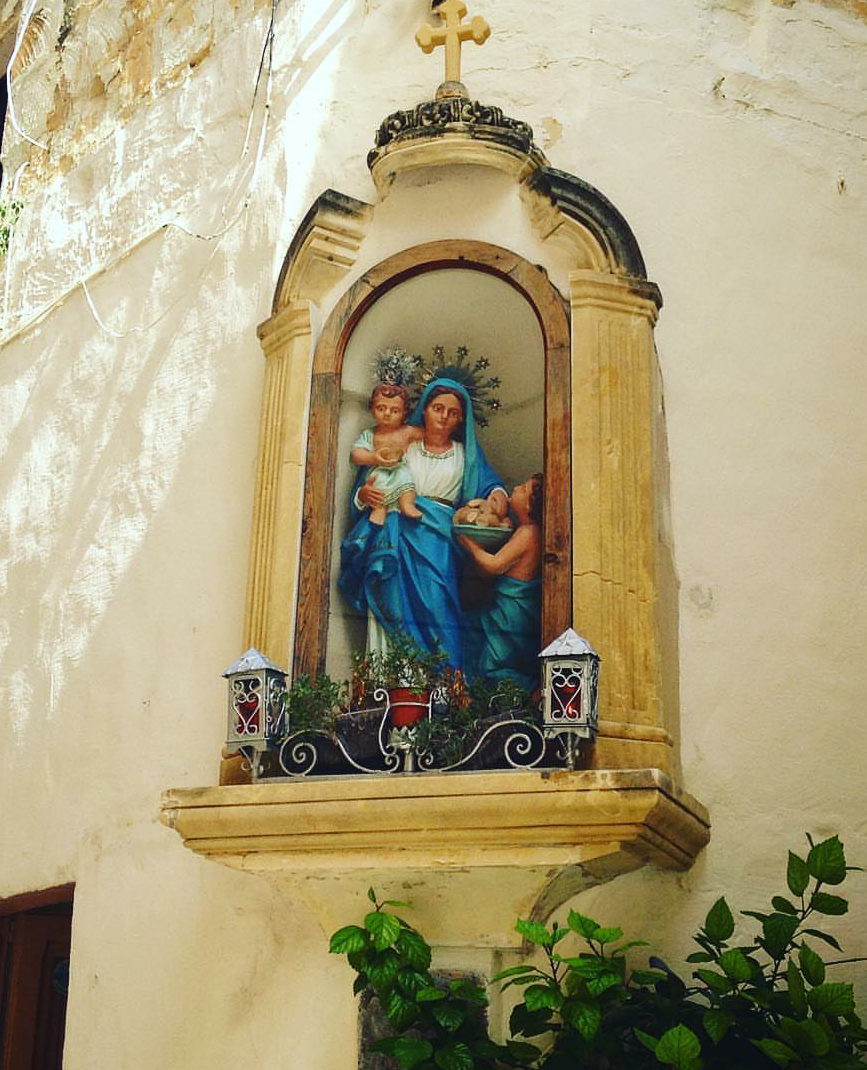"allaboutmary: ""A street shrine for Mary in Victoria, the capital of the Maltese island Gozo. """