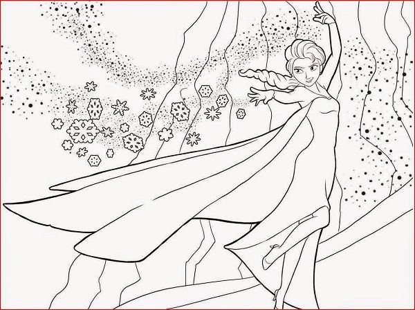 Frozen Coloring Pages Elsa Ice Castle New Coloring Pages Buku Mewarnai Halaman Mewarnai Frozen Disney