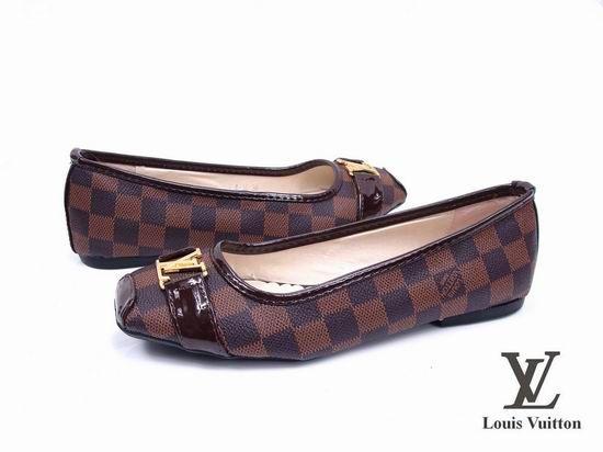Louis Vuitton Women Flats Brown $58.99