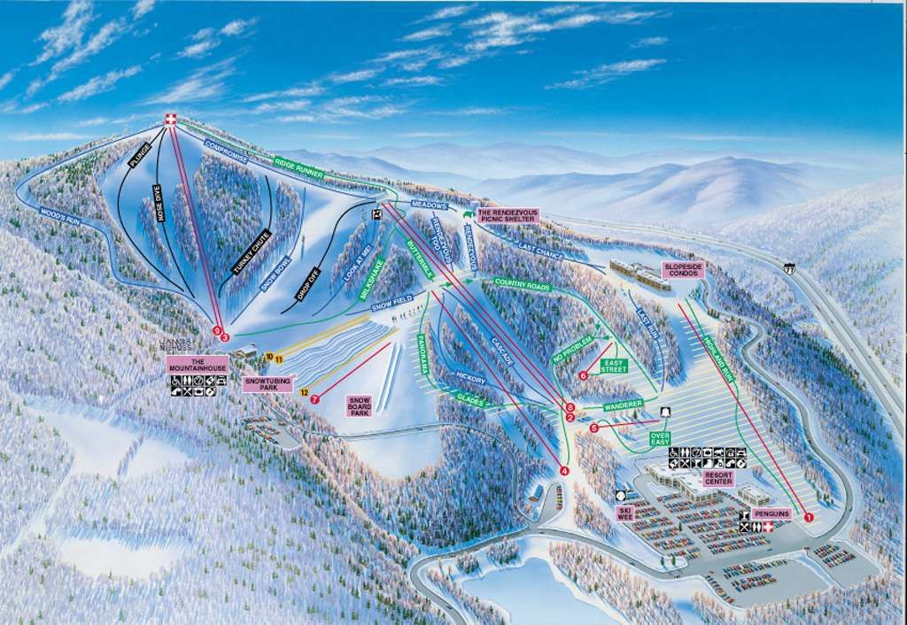 ski resorts virginia map Winterplace Ski Resort Trail Map Ski Resort Ski Trip Ski Trails