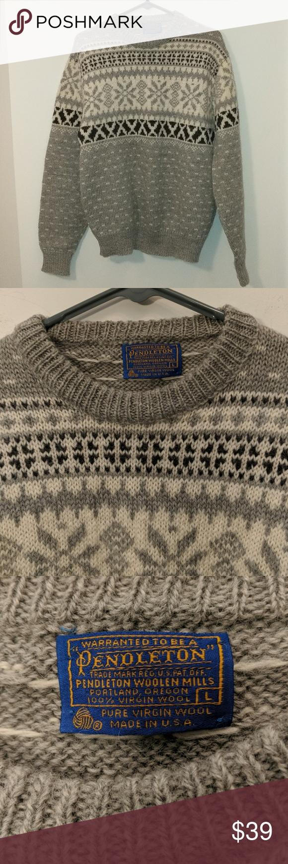 Pendleton Wool Sweater Made In Usa Size L In 2018 My Posh Picks