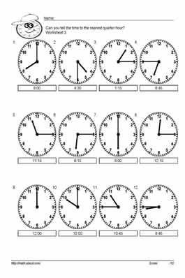 Free Time Worksheets: Worksheet # 3   Worksheets   Pinterest ...