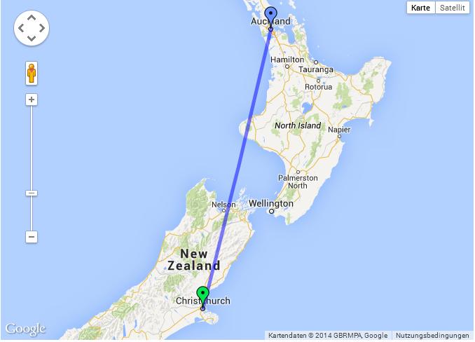 Auckland Flights (AKL to CHC ) to Christchurch Flight