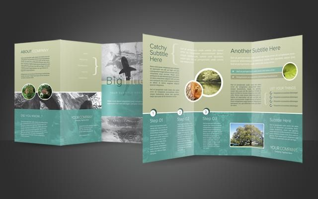 Trifold Brochure PSD Template Pregnancy Labor Birth - Brochure templates psd