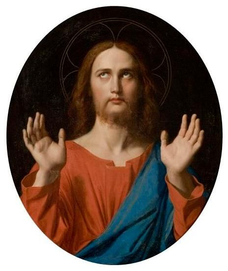 Christ, Oil On Canvas by Jean Auguste Dominique Ingres (1780-1867, France)