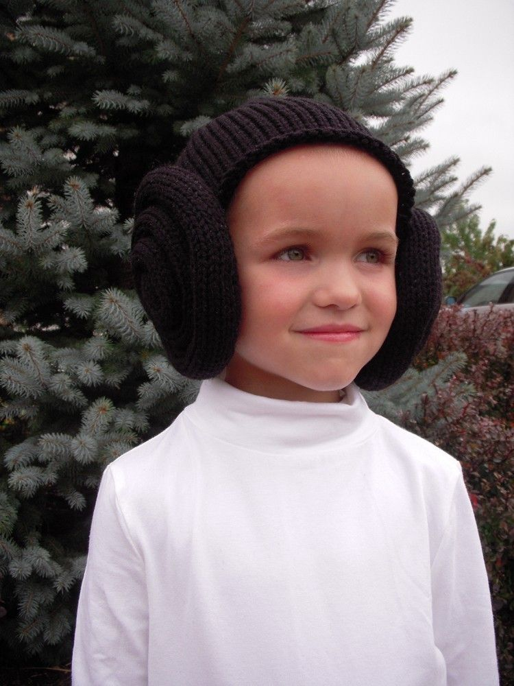 Knit Princess Leia Inspired Bun Hat, Wig, Costume, Black, Brown, Toddler, Baby, Star Wars Fan, Halloween. See shop 4 Children & Adult Sizes. $24.99, via Etsy.