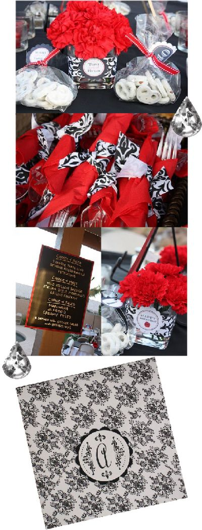 Red And Black Birthday Decorations this black and red damask