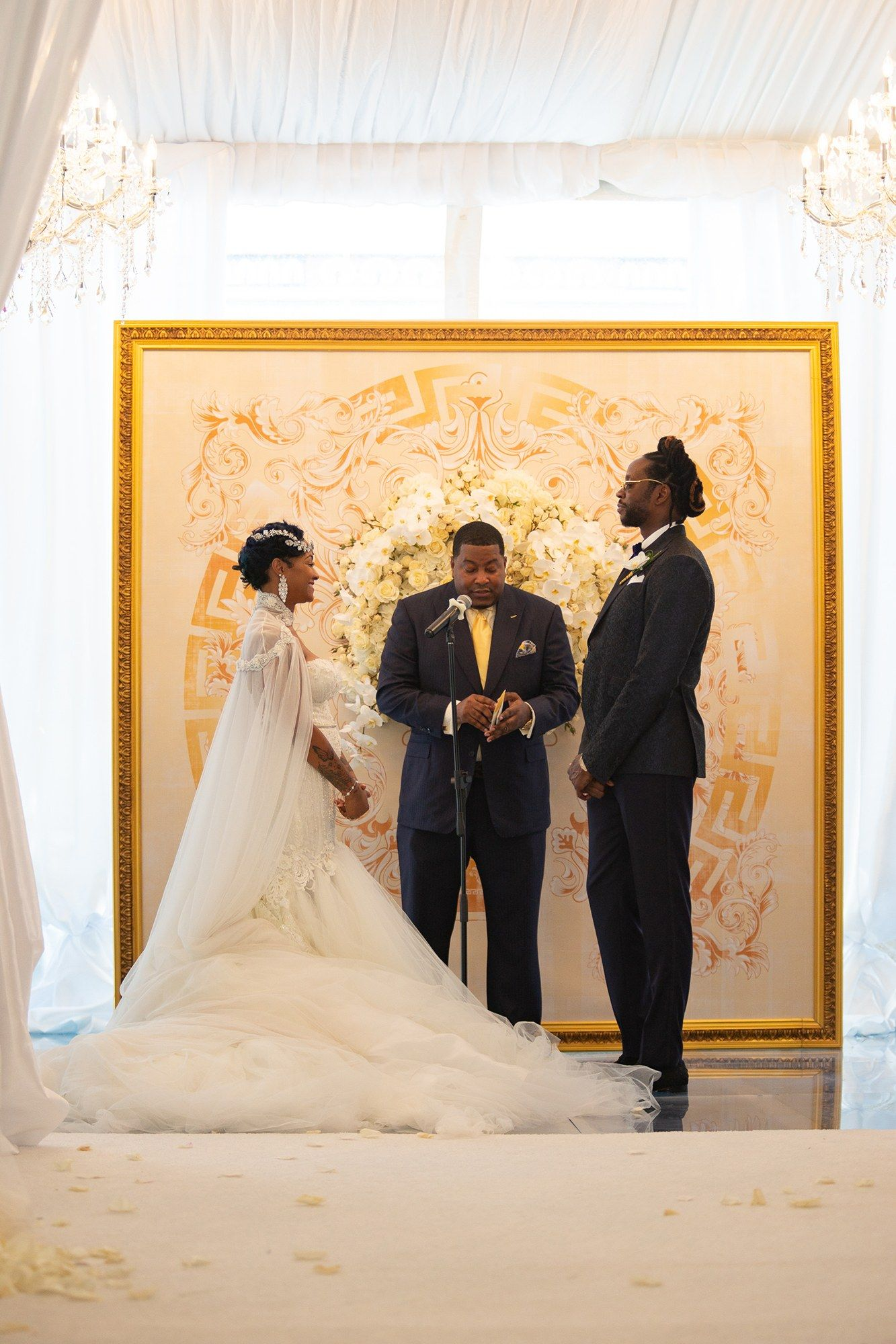 Versace wedding dress   Chainz Outdid His Met Gala Proposal With a Wedding at the Versace