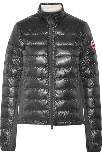 Canada Goose Hybridge Lite Jersey Paneled Quilted Shell Down Jacket With Images Jackets Down Jacket Slim Fit Jackets