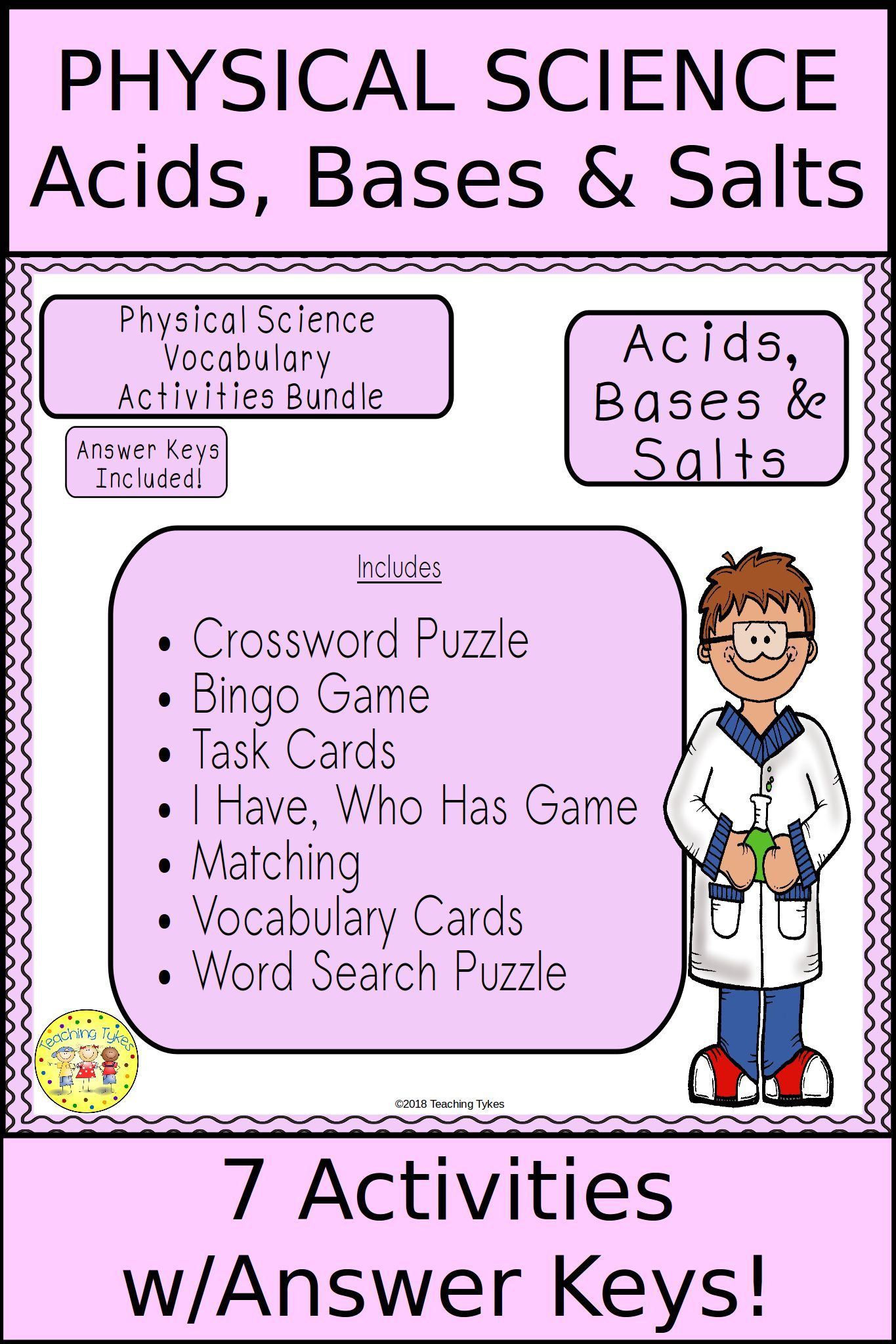 Acids Bases And Salts Bundle