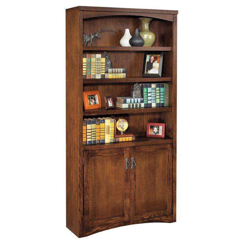 kathy ireland Home by Martin Mission Pasadena Wood Bookcase with Doors - MP3672D/M