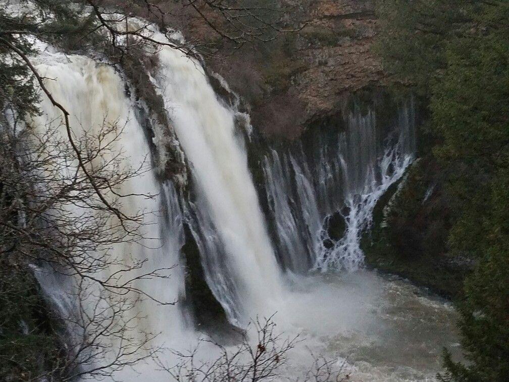 Burney Falls is a waterfall on Burney Creek, in McArthur-Burney Falls Memorial State Park, Shasta County, California.