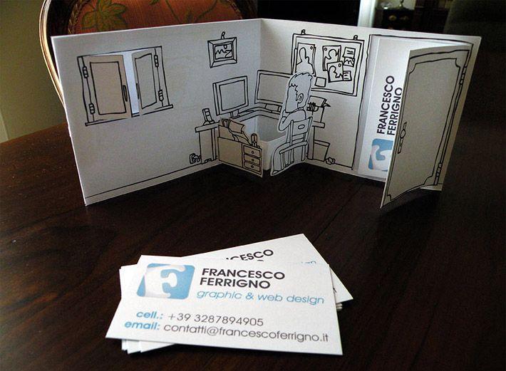 Unique business card holder and a minimalistic business card by unique business card holder and a minimalistic business card by italian graphic and web designer francesco ferrigno colourmoves