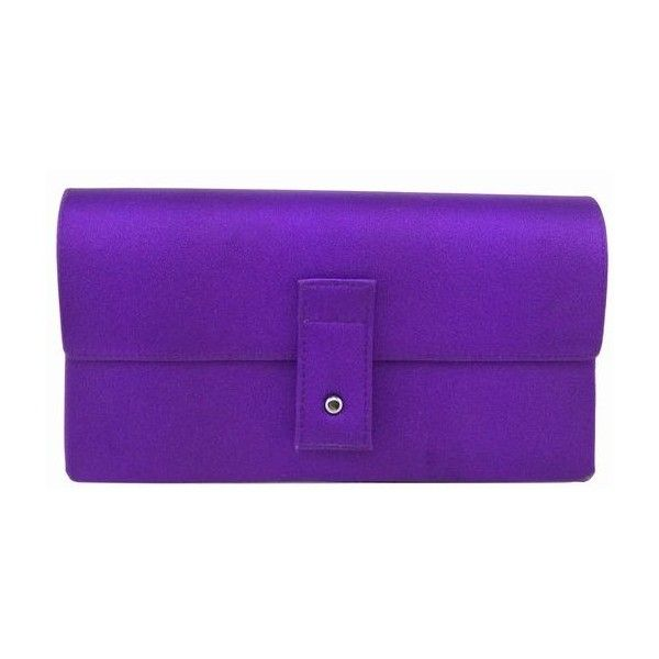 ea59d037440 Pre-Owned Gucci Purple Satin Evening Bag Clutch ( 235) ❤ liked on Polyvore  featuring bags