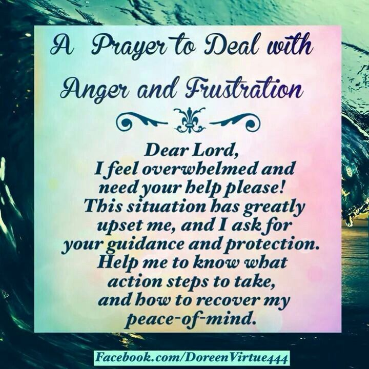 Doreen Virtue: prayer for anger and frustration