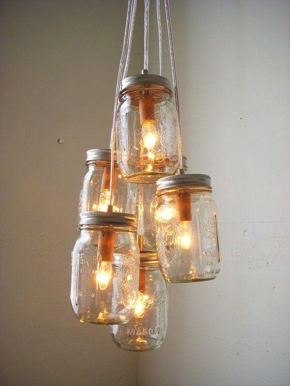 Mason Jar Chandelier Rustic Hanging Mason Jar Pendant Etsy Mason Jar Chandelier Jar Chandelier Jar Lights