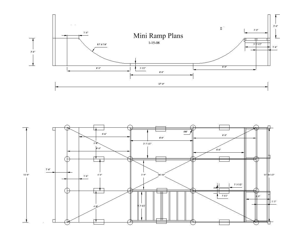 Pin On Skate Backyard mini ramp plans