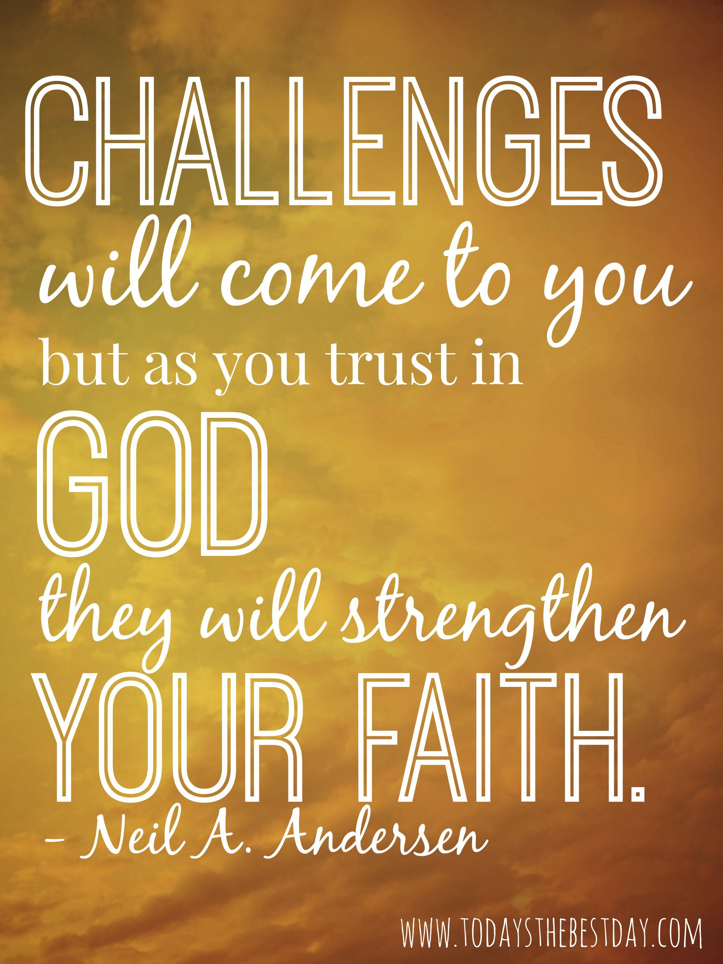 Trust in God  Gospel quotes, Church quotes, Lds quotes