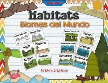 Mommy Maestra Habitats Biomas Del Mundo Giveaway Animal Habitats Kindergarten Habitats Vocabulary Cards